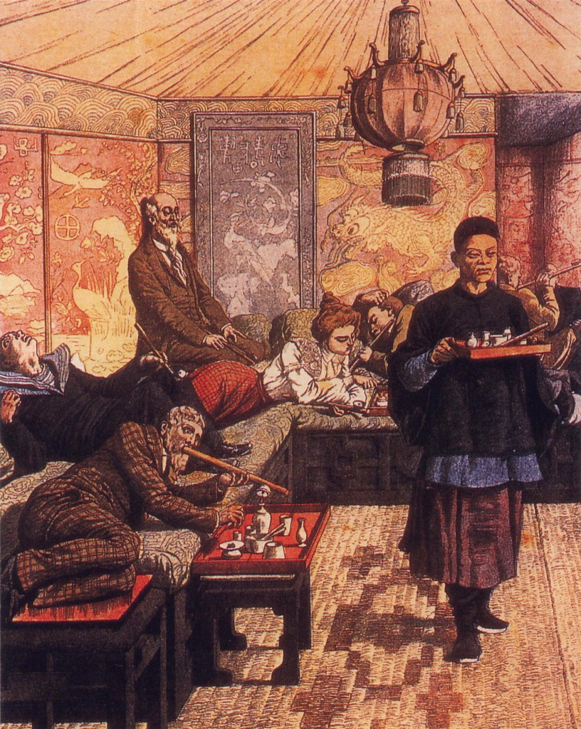 French opium den Public Domain